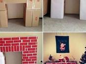 Hacer chimenea cartón para navidad