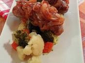 Butifarra cebolla caramelizada verduras