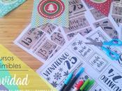 Recurso imprimible: Calendario adviento decoración Navidad