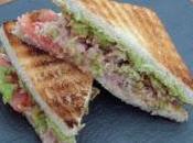 Tuna guacamole sándwich