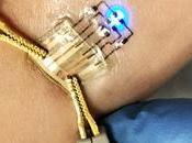 tatuajes electrónicos para medir parámetros corporales, cada cerca.