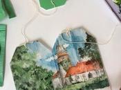 Esta artista utiliza bolsitas usadas como lienzos para pintar