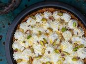 Pastel relleno crema coco pistacho