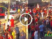 Indignación redes bandera julio presente procesión Santa Bárbara
