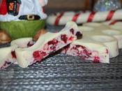 Turrón chocolate blanco frutos bosque