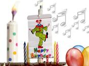 Vela cumpleaños musical Surprise Banner Candle