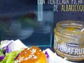 Ssäm albóndiga pollo mermelada picante albaricoque