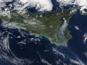 Volcán Etna: imagen satélite pluma cenizas (29-12-2018)