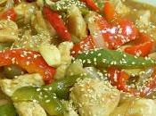 Receta fácil pollo Pepper (pollo pimientos estilo asiático)