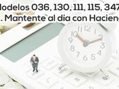 Modelos 036, 130, 111, 115, 347… Mantén impuestos Hacienda