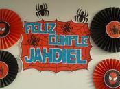 abanicos temática spiderman