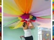 Tutorial cómo decorar techos fiesta usando telas