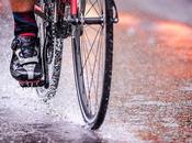 ¿Cómo rápido bicicleta bajo lluvia?