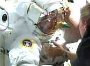 astronauta, punto ahogarse fallo traje durante paseo espacial