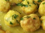 Cómo hacer albóndigas pescado salsa cebolla curry