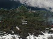 Asturias: imagen satélite humo incendios forestales (26-02-2019)