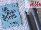 Pintando: sello pequeña flor