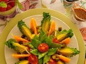 Ensalada tirabeques salsa mostaza