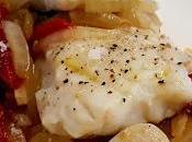 Bacalao fresco cebolla pimientos piquillo
