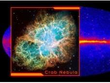 Potentes llamaradas Nebulosa Cangrejo