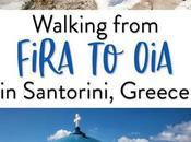 Cómo caminar Fira Oia, paseo hermoso Santorini