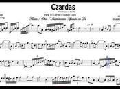 Czardas Partitura Flauta, Oboe, Violín instrumentos afinados