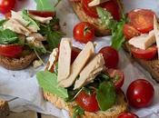 Bruschetta tomate, ventresca albahaca