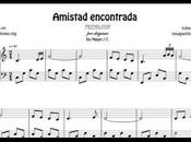 Amistad Encontrada Partitura Piano Mayor