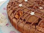 Pastel nueces, chocolate aove