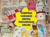 Compras variadas Arenal Perfumerías online