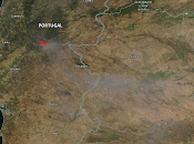Portugal: imagen satélite humo incendios (21-07-2019)