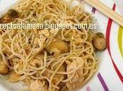 Noodles salmón mejillones