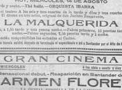 Santander hace años:La Malquerida Jacinto Benavente cupletista Carmen Flores