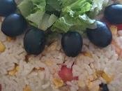 Ensalada arroz microondas. receta para preparar sólo diez minutos