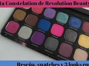 Paleta Constellation Revolution Beauty Info, swatches 3(+1) looks ella