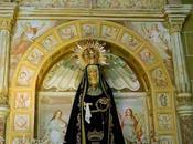 Imagen mes: Pinturas falso fresco retablos laterales Iglesia Asunción Hinojal