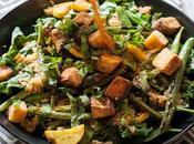Ensalada judías verdes queso tofu