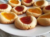 Galletas huella mermelada thumbprint cookies
