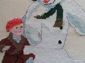 Punto cruz, literatura infantil Navidad.