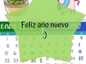 Calendario Enero 2,020 Unicornio Suculenta GRATIS