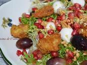 Ensalada escarola, uvas, pollo mozzarella