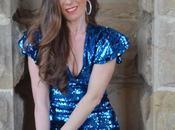 Vestido azul lentejuelas