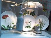 Flores sobre cerámica