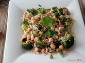 Ensalada brócoli, arroz, garbanzos almendras #lunessincarne