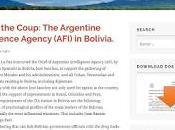 inteligencia argentina contra países ALBA para derrocar