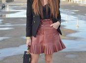 Minifalda plisada cropped