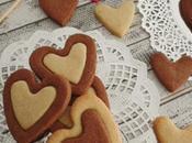 Galletas almendras bicolor para Valentín