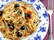 Spaghetti alla puttanesca. (Receta Italia)