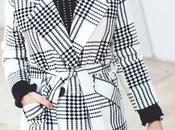 Look abrigo blanco negro