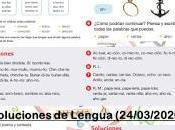 Soluciones Lengua (Segunda Semana)